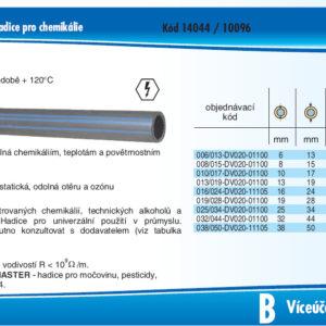 hydraulicke hadice CHEMITC EPDM 20