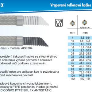 hydraulicke hadice CHEMITEC CONVO PTFE M SPL 1X
